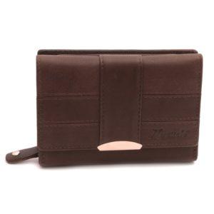 Dámska peňaženka MERCUCIO hnedá Šikovná peňaženka pre ženy strednej veľkosti vyrobená zmäkkej teľacej kože. Pravá koža ťeľacia