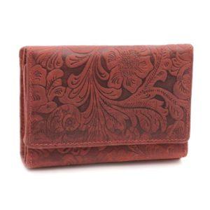 Dámska peňaženka MERCUCIO vzorovaná veľký mincovník nazips- 1 prepážka nabankovky Materiál:pravá koža (hovädzia)