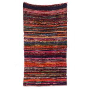 Luxusný ručne tkaný koberec 150 x 90cm - červený ZERO WASTE Tieto luxusné indické kobercesú vyrobené ručne z recyklovaných materiálov z indického