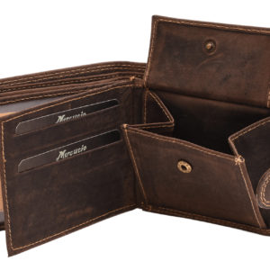 Pánska peňaženka MERCUCIO tmavohnedá Kožená peňaženka pre pánov vkrásne aprirodzene hnedej farbe. Poteší aj tých najnáročnejších.