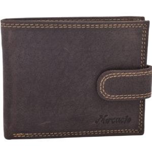 Pánska kožená peňaženka MERCUCIO - tmavý tan Krásne elegantný model pánskej peňaženky má dve priehradky nabankovky.Členenie peňaženky
