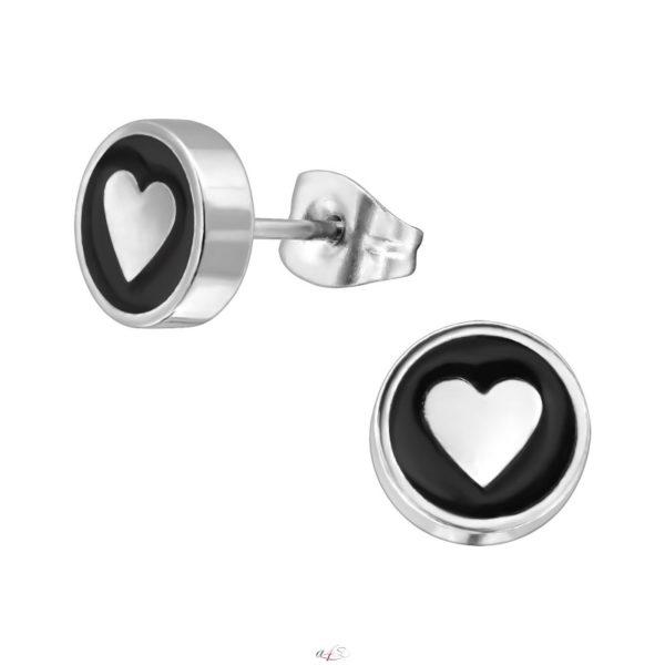 Srdce puzetové náušnice - chirurgická oceľ