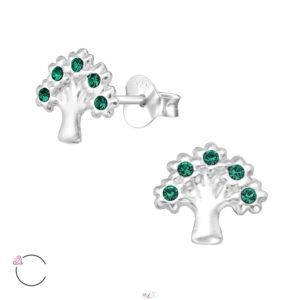 Strom života zelený - strieborný 925 prívesok