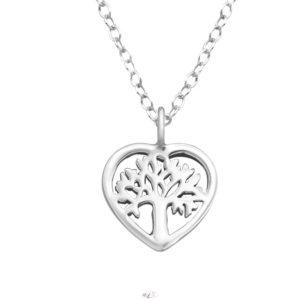 Srdce strom života- strieborný 925 prívesok s retiazkou