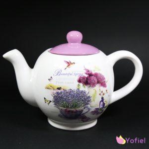 Čajník keramický Levanduľa Keramický čajník v štýle provensal s motívom levandule Materiál: keramika Objem: 1020ml
