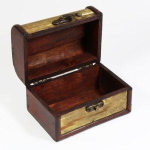 Vintage drevená krabička /šperkovnica zlatá patent na zatváranie derkoračná rúčka