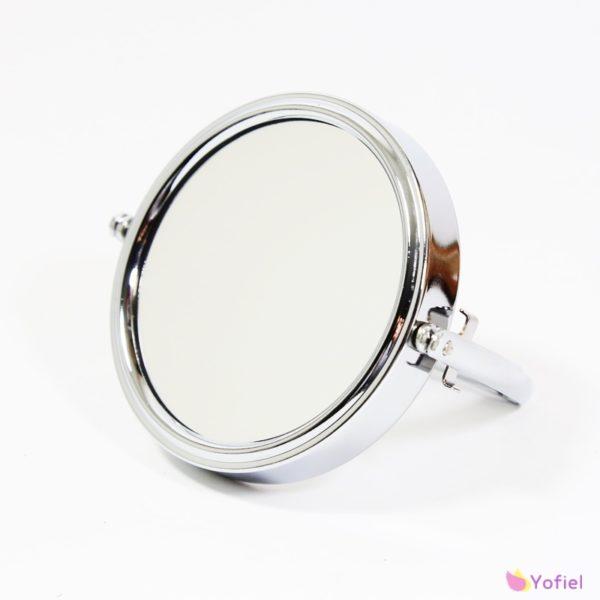 Obojstranné zväčšujúce zrkadlo na stojane Kozmetické zrkadlo na jednej strane s klasickým zrkadlom a na druhej strane so zväčujúcim 3x