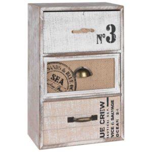 Drevená skrinka Industrial Skrinka s 3 šuflíkmi v industriálnom štýle.