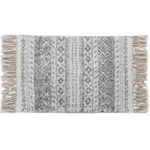 Bavlnený koberček do kúpeľne šedý vzorovaný Príjemný na dotyk. Materiál: 100% bavlna