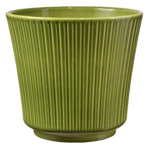 Keramický kvetináč zelený