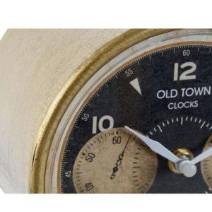 Stolové vintage hodiny Retro – vintage stolové hodiny bronzovej farby vhodne doplnia každý vintage domov.